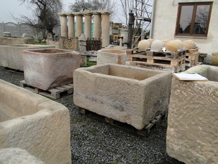 sch ner wassertrog sandstein brunnen original 1830 ebay. Black Bedroom Furniture Sets. Home Design Ideas