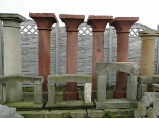 Historische Säule mit Basis und Kapitell, 4 Stück, Sandstein, vor 1750 Jahr, Komplett-Set