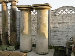 Historische Säule, 2 Stück, Sandstein, vor 1800 Jahr, Steinsäule - Original